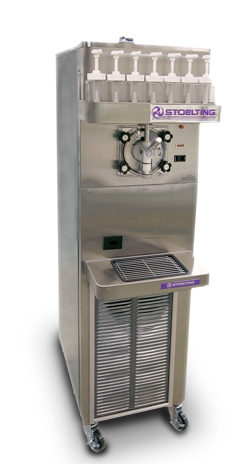 High-volume frozen beverage dispenser.